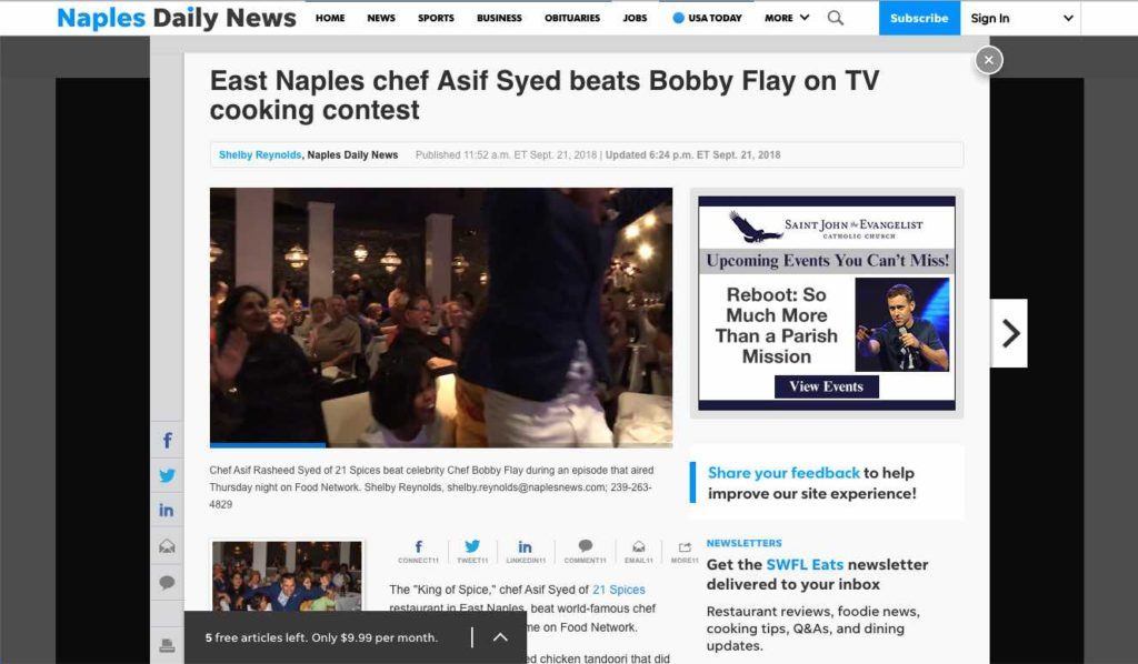 21 Spices - Chef Asif Beats Bobby Flay