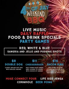 Beach Box Cafe - 4th of July Weekend BBQ Flyer