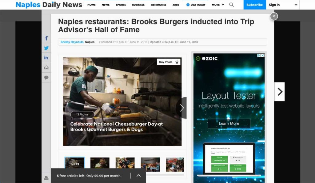 Brooks - Trips Advisor Hall of Fame