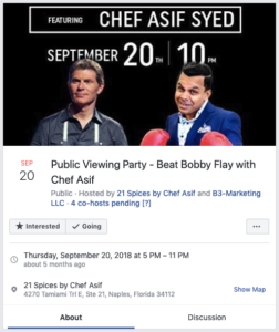 Beat Bobby Flay Event Post