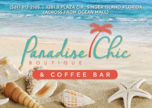 Paradise Chic Boutique Flyer