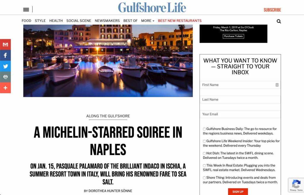 Sea Salt - A michelin Starred Soiree in Naples